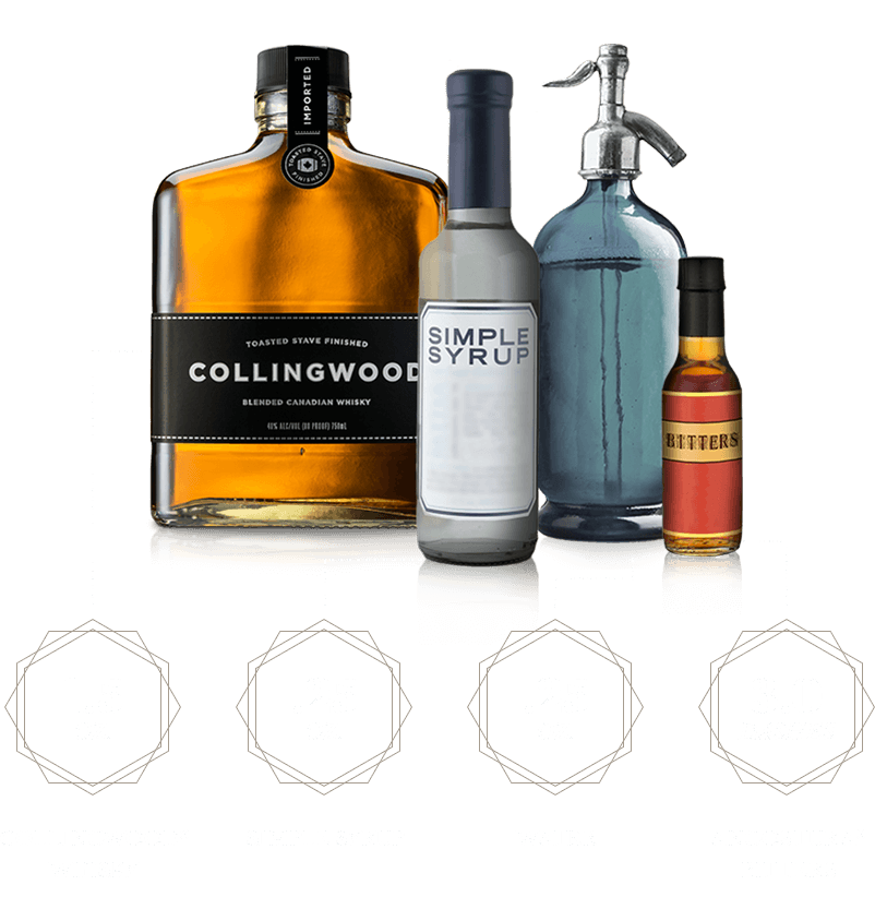 Ingredients for a Collingwood Old Fashioned